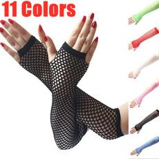 fingerlessglove, Goth, meshglove, Fish Net