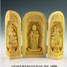Box, amulet, carved, Statue