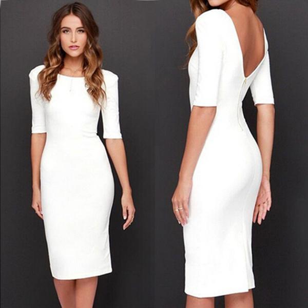 Office, long dress, Dress, businesswearforwomen
