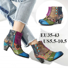 ankle boots, Fashion, boho, leather