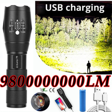 Flashlight, Batteries, led, camping