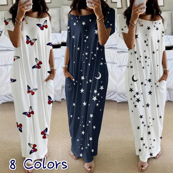 Plus Size, Print Dresses, long dress, Dress