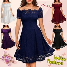 Lace, Swing dress, ladies dress, Dress