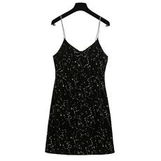 sequinsuspenderdres, girls dress, Fashion, vneckjumpsuitskirt