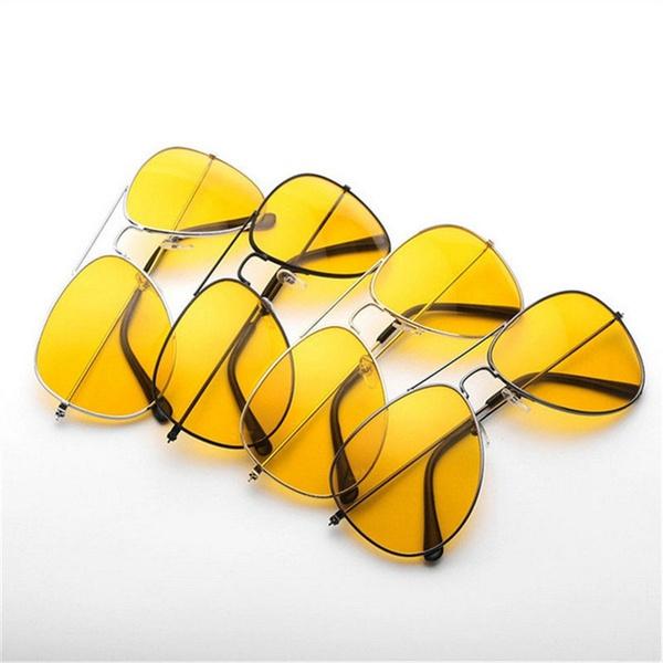 Fashion Sunglasses, Round Sunglasses, Goggles, Yellow