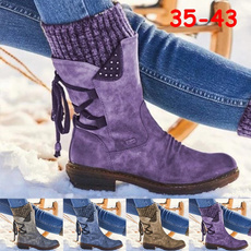 ankle boots, Leather Boots, Lace, Winter