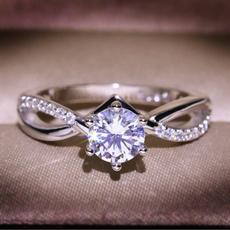 Sterling, platinum, Fashion, wedding ring