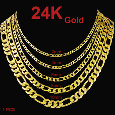 yellow gold, Chain Necklace, Fashion, punk style