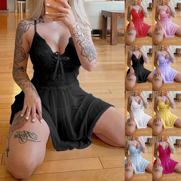 Mini, Lace, Dress, Lace Dress