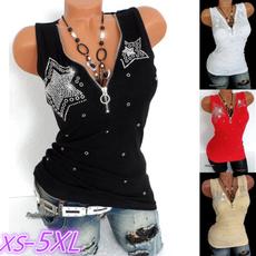 Deep V-Neck, Women Vest, Vest, Plus Size
