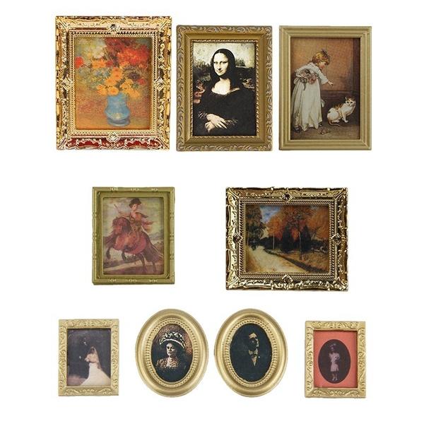 dollhousepainting, giftsforkid, Vintage, vintagephotospainting