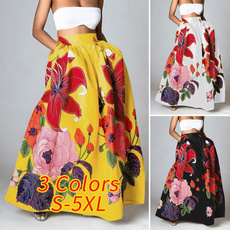 Plus Size, Dress, high waist skirt, Vacation