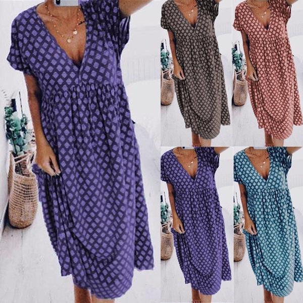 Summer, Fashion, Vintage, long dress
