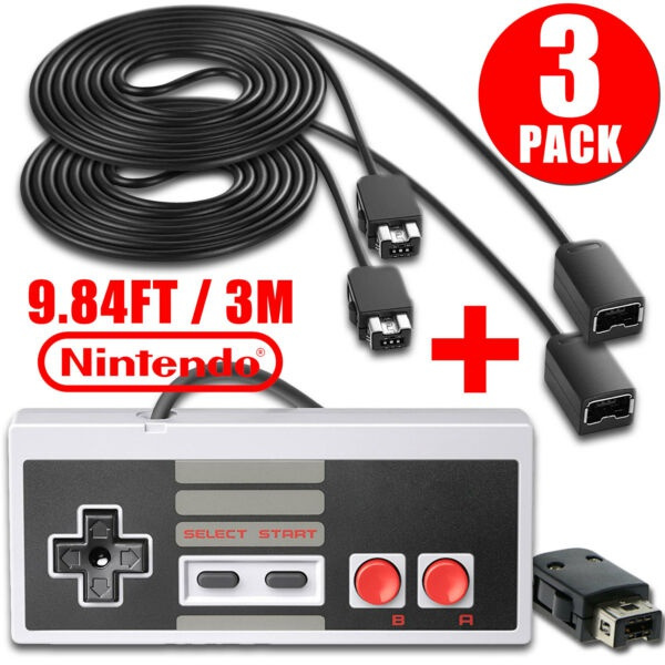 Mini, gamecontroller2pcs10ftextensioncable, Video Games, nintendogamecontroller