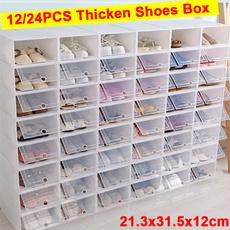 Box, Storage & Organization, foldableshoebox, stackableshoerack