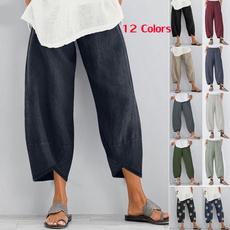summertrouser, Women Pants, harem, elastic waist