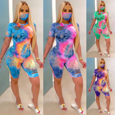 2pieceset, ripped, Plus Size, Summer