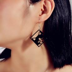 acryliccatearring, Jewelry, Earring, Creative earrings