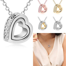 Sterling, Heart, Fashion, gold
