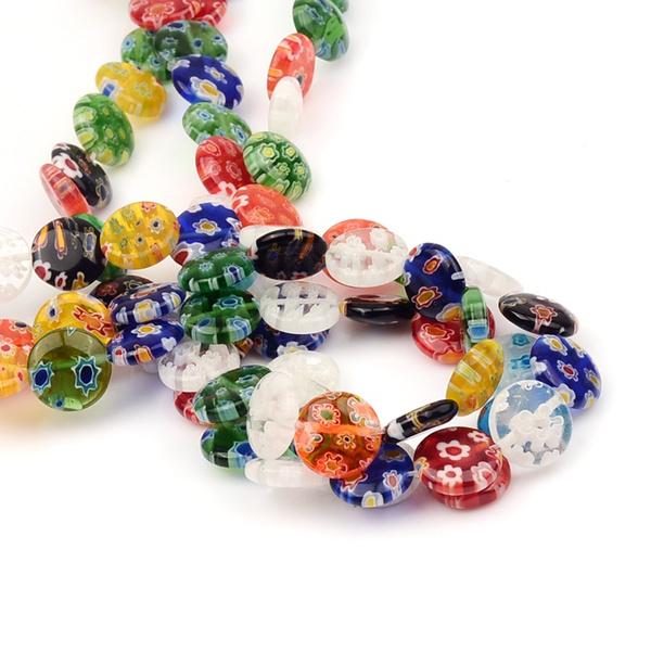 beadsforjewelrymaking, Flowers, roundshape, Glass