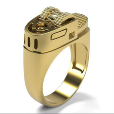 golden, Geometric, Jewelry, Mens Accessories
