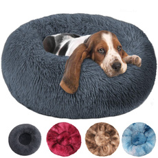 large dog bed, kennelmat, fluffydogbed, donutdogbed