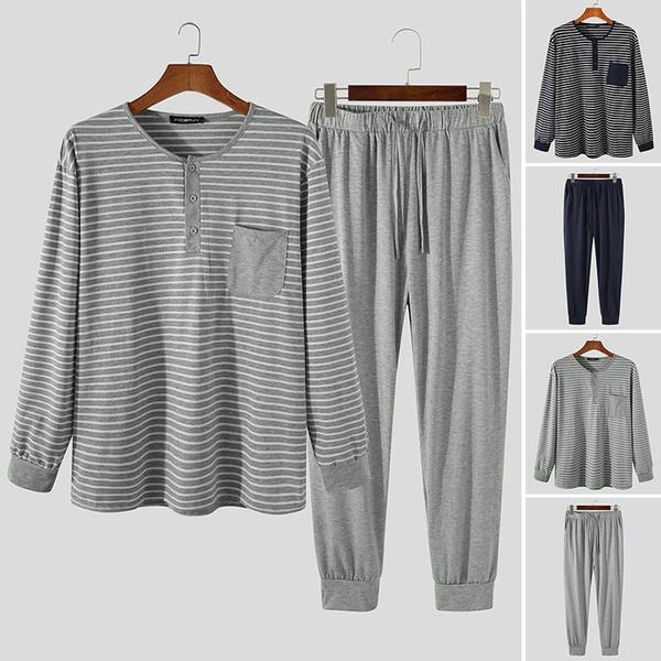 stripedpajama, Sleepwear, Plus Size, Long Sleeve