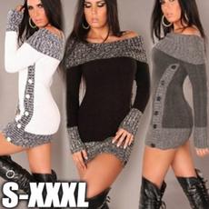 Mini, Women Sweater, Autumn Dress, Dress