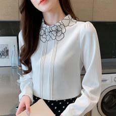 White Chiffon Shirt, Korea fashion, white shirt, Office