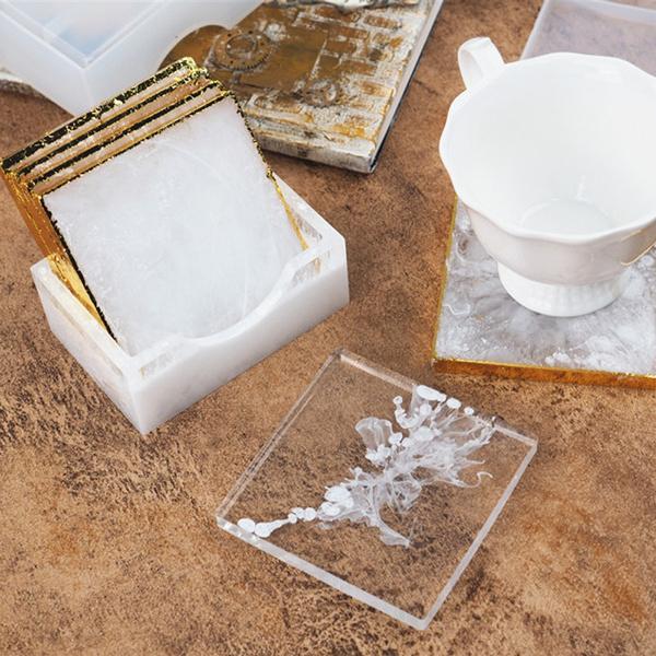 castingmold, sqaurecoaster, Silicone, Storage