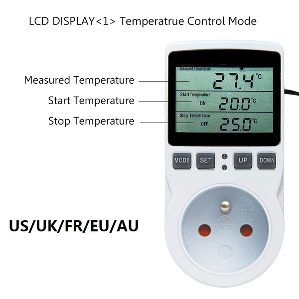 socketoutlet, Temperature, temperaturedetector, digitaltemperaturecontroller