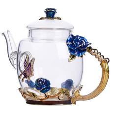 Coffee, Flowers, Rose, Pot