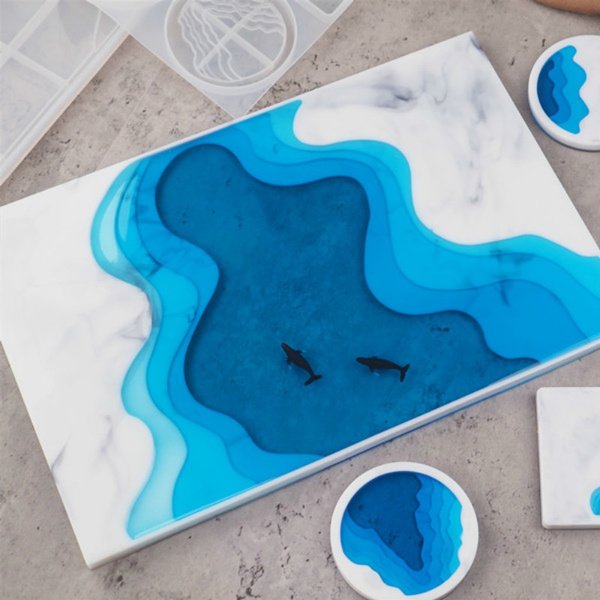 Coasters, Silicone, Molds, oceanterrace