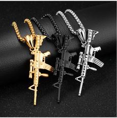 submachinegun, Steel, Fashion, Jewelry
