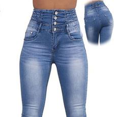 pencil, high waist, Elastic, pants