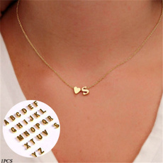 Chain Necklace, alphabetletter, Jewelry, gold
