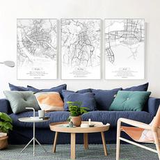 citymap, art, canvaspainting, homelife