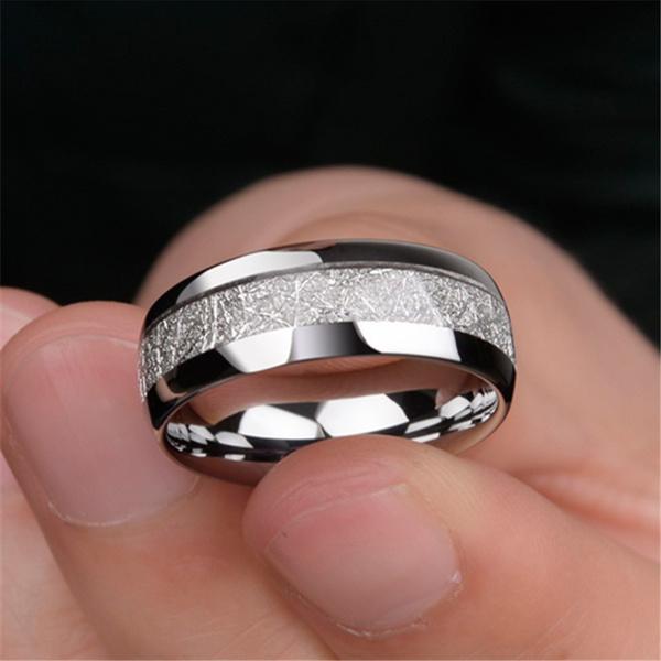 Men Jewelry, Steel, tungstenring, 8MM