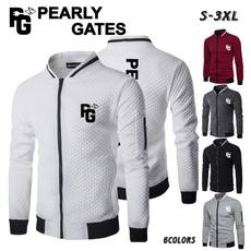 Stand Collar, casual coat, Fashion, Golf