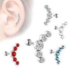 Jewelry, diamondearstud, noseringsstud, ear studs