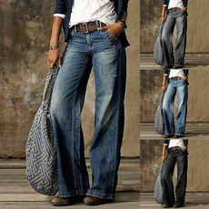 Plus Size, high waist, pants, Spring
