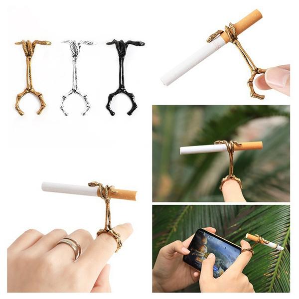 fingercigarettering, cigaretteholderforwomen, Jewelry, cigaretteholderring