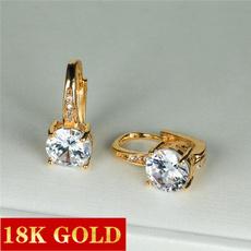 Beautiful, Sapphire, gold, Stud Earring