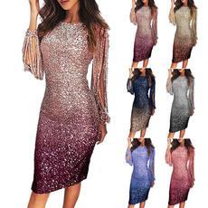 Plus Size, Deep V-neck Dress, long dress, Evening Dress
