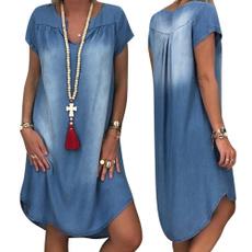 Summer, short sleeve dress, Dress, V Neckdress