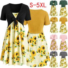 Summer, short sleeve dress, Tunic dress, short sleeves