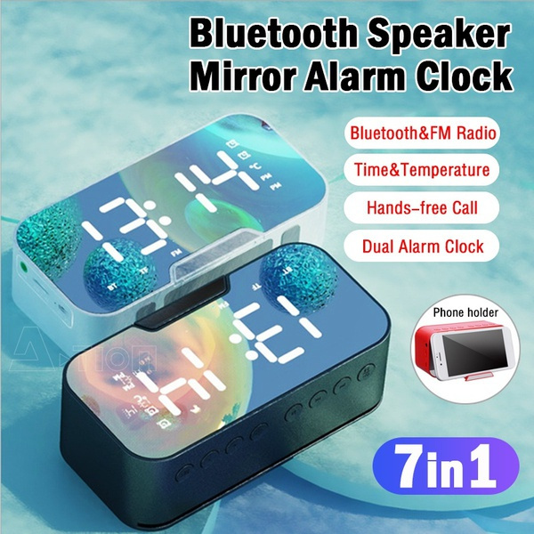 multifunctionclock, alarmclockforbedroom, Clock, bluetooth speaker