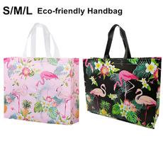 pink, reusablebag, flamingo, Totes