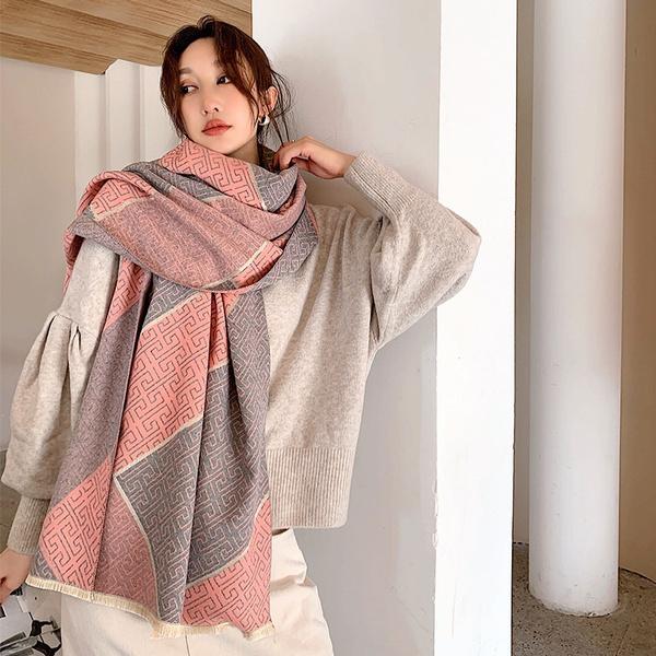 women scarf, Blanket, Women's Fashion, womencashmerepashminawinterscarf