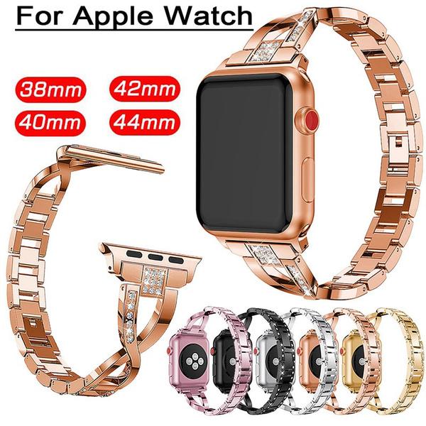 iwatchdiamondbraceletwatchband, applestainlesssteelwatchband, Apple, jewelrybandsforapplewatch